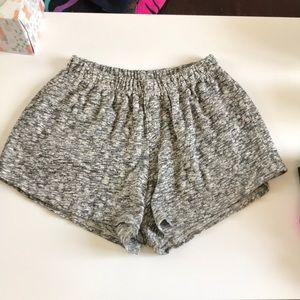 Brandy Melville marled gray white shorts nwot o/s